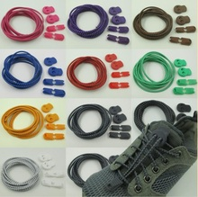 2 Pairs Elastic Shoe Lock Laces Sports Running No Tie Shoelaces for Hiking Baskeball Shoes Wholsale(China)
