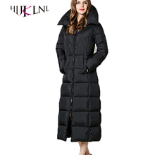 HIJKLNL winter long down coats for women white duck padded down parkas 2017 down jackets for cold weather parka feminina PL053