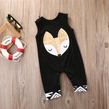 Newborn Winter Rompers 2017 Cute Toddler Baby Boy Fox Jumpers Rompers Playsuit Outfits Clothes 0-24M(China)