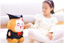 free shipping , about 40cm monkey with Doctor hat monkey plush toy graduation gift b2988(China)