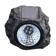 1Pcs 4 LED Solar Powered Solar light Decorative Rock Stone Lights Waterproof IP44 Garden Yard Lawn Lamp for Outdoor New