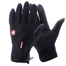 1Pair Men's Winter Touch Screen Windproof Outdoor Sport Gloves For Men Women Driving Waterproof Full finger Glove Warm Hot Sale