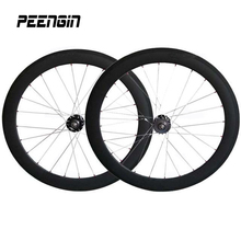 wheels carbon clincher 60mm 700C track bicycle wheelset strong rim 25mm width U profile fixed gear bike groupset cycling partner
