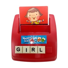 Kids Learning English Card Word Scrabble Learning Machines Teach Educational Toy Fun Gift Learning Maching Toys(China)
