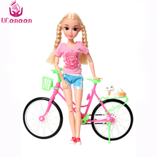 UCanaaBicycle Doll and Accessories 14-Joint Body Desigin Educational Toy Fashion Dolls Best New Year Gifts For Girl Black Friday