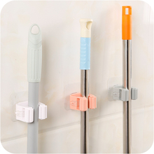 Wall Mounted Mop Holder Brush Broom Hanger Storage Rack Kitchen Organizer with Mounted Accessory Hanging Cleaning Tools 3 Color(China)