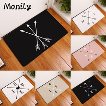 Monily Entrance Waterproof Door Mat Geometry Love Arrow Kitchen Rugs Bedroom Carpets Decorative Stair Mats Home Decor Crafts