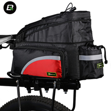 Buy Rockbros MTB Road Bike Bag Waterproof Bicycle Rear Seat Bag 4 Colors Cycling Rear Rack Trunk Bag Bicycle Accessories &Rain Cover for $32.99 in AliExpress store