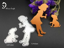 METAL CUTTING DIES baby girl dog bone friend play Scrapbook card album paper craft home decoration embossing stencil cutter