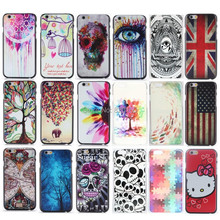 For iPhone 4s 5c 5 5s SE 6 6s 7 Plus Coloured eyes animal UK US flag skeleton Custom Hard Plastic Mobile Phone Cover(China)