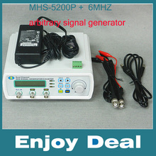 MHS-5200P+ Digital Dual-channel DDS Signal Generator Arbitrary waveform generator Function signal generator 6MHz Amplifier 5MHz