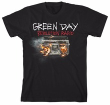 Print T Shirt Brand Clothing Gildan Broadcloth O-Neck Short-Sleeve Green Day Revolution Radio Rock Music Punk Official T Shirt
