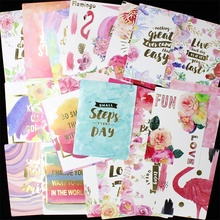 25Pcs Acid Free Colorful Paper Pocket Cards for Scrapbooking DIY Projects/Photo Album/Card Making Crafts(China)