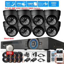 Full HD 2MP SONY IMX323 1080P in/outdoor Camera Security Surveillance CCTV System 8CH Real 1080P DVR recorder USB 3G WIFI DVR