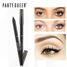 Party Queen Smudge-proof Gel Eyeliner Pencil Long lasting Waterproof Kohl Eye Pencil Makeup Smooth Shocking Matte Black Eyeliner