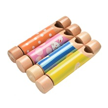 Whistles Educational Music Wood Toys Gift for Boys Girls Wooden Small Drawing Diacritical Sliding Flute Learning(China)