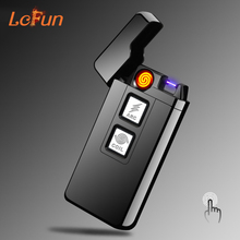 USB Rechargeable Cigarette Lighter Plasma Arc Dual-purpose Flameless Pulsed USB Lighter Windproof Smoking Electronic Lighters(China)