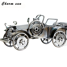 Office decoration retro metal classic car model model children's toys collection gifts men metal model retro home decorations