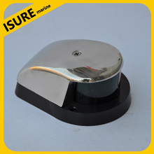 Bi-Color Combination Deck Mount Bow Navigation Light Stainless Steel for Boats