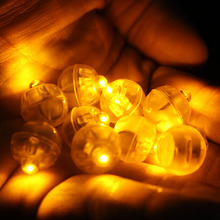 50pcs/lot Yellow Mini Balloon Lamp LED Ball Light For Paper Lantern Balloon Wedding Party Floral Decoration Halloween Suppies