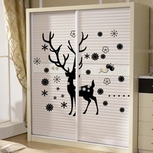 Deer snowflake Flower Christmas decals Vinyl wall sticker home wall decor poster christmas decoration Wallpaper