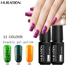 Huration Crackle Shatter 7ML Colorful Fashion Gel Nails Polish UV Soak Off Led Gel Lacquer Semi Permanent Nail Gel(China)