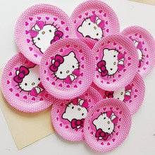 10pcs/lot 9Inch hello kitty Theme Party Plates cartoon decoration Children Boy Birthday/Festival Party Plates Supplies kitty11