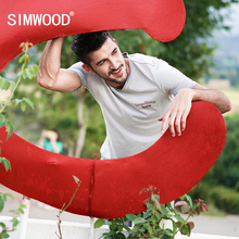 Buy SIMWOOD 2018 Summer New Vintage T shirt Men V-Neck Pure Cotton Plus Size High Tees Slim Fit Fashion Tops TD017116 for $14.85 in AliExpress store