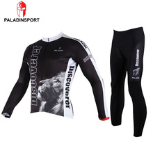 Paladin Winter Lion Eagle Men Long Sleeve Cycling Jersey + Pants Ropa Maillot Invierno Ciclismo Bicycle MTB Bike Clothing Sets