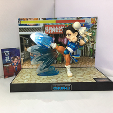 SAINTGI Street Fighter V Chun-Li BigBoysToys With light Action Figure Game toys PVC 16CM Model kids toys Collection