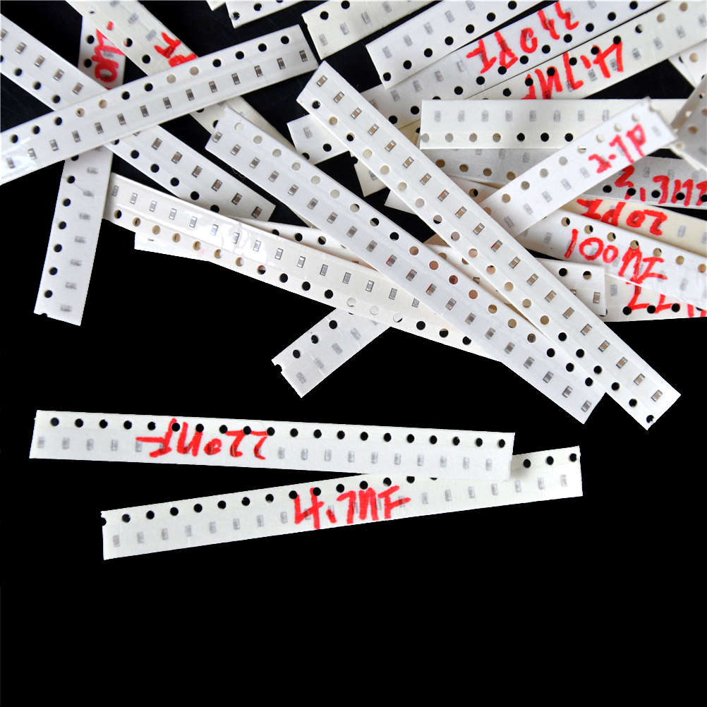 Electronic Diy Kit 720Pcs 0603 SMD Capacitor Assorted Kit 1pF~10uF Samples Kit