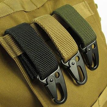 5 PcsTactical Molle Hanging Belt Carabiner KeyHook Webbing Buckle Strap Clip Backpack