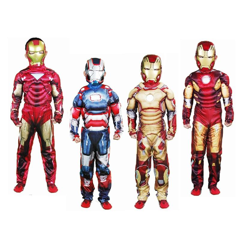 Children Boys Ironman Cos Clothes Set Kids Fantasy Clothing<br>