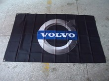Free shipping 90X150CM Volvo logo car flag, Volvo Cars game decorative banners, digital printing 100D