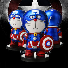 2017 Newest Cartoon Captain America Figure Toys PVC Captain America Doraemon Action Figures Children's Toys Collections Gifts