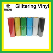"1 Sheet 20""x40""/50cmX100cm korea glitter t-shirts heat transfer vinyl cutter plotter vinyl diy vinyl"