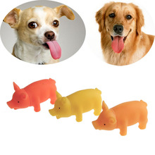 Pet Puppy Supplies Chew Squeaker Rubber Sound Vinyl Toys Simulation Cute Pig For Dog Playing 2016