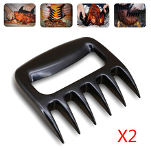 2pcs BBQ Forks Meat Pulled Claws for Shredding Pork Beef Barbecue Cooking Grill Kitchen Accessories
