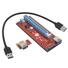Newest  version ver 007S board PCI-E PCI E Express 1X to 16X Riser Card USB 3.0 Cable for Bitcoin Litecoin Mine 60cm