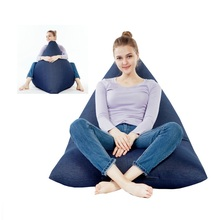 Cover only No Filler- EXTRA LARGE Back rest bean bag lounger, relax beanbag chair, oversized full enjoyment sofa furniture(China)