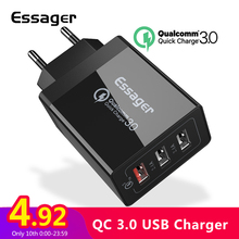 Essager Quick Charge 3.0 USB Lader 30 w QC3.0 Snel Opladen USB Lader voor iPhone Samsung Xiaomi Mobiele Telefoon lader(China)