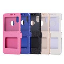 Phone case Xiaomi Mi 6 6X 8 Redmin 4 4A 4X 5 5plus Note 4 4X 5A 5pro Window View Stand Leather Flip back Cover