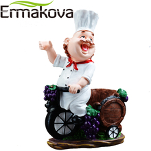 ERMAKOVA Resin Chef Wine Rack Wine Stand Cook Wine Bottle Holder Home Beer Ornaments Shelf Crafts Rack Shelf for Party