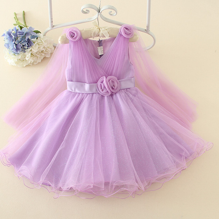 3,4,6,8,10,12Y Fashion Lace New Summer Wedding Dress Floral Princess Dress V-neck Sleeveless Children Clothes AD-1676<br><br>Aliexpress
