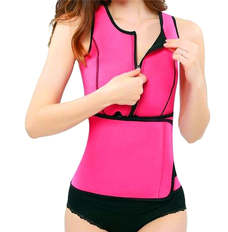 Hot Shapers Neoprene Sauna Waist Trainer Vest Workout Shaperwear Slimming Adjustable Sweat Belt Fajas Body shaper Slim Underwear(China)