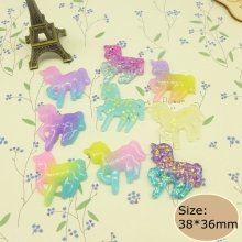 Kawaii unicorn flatback resin cabochon craft for phone deco  hair bow diy  Scrapbook Embellishment Free shipping