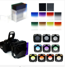 for Cokin P 77mm ring Adapter + 10pcs square color filter + Filter box + filter holder