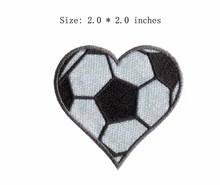 "The loving football embroidery patch 2.0"" wide /sport /Apparel patch/shirt emblem"