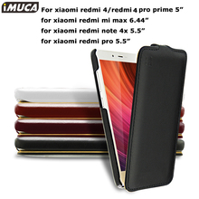 iMUCA Case cover Xiaomi redmi 4 pro case luxury flip cover Xiaomi redmi 4 mi max 6.44inch phone case cover mobile phone bag