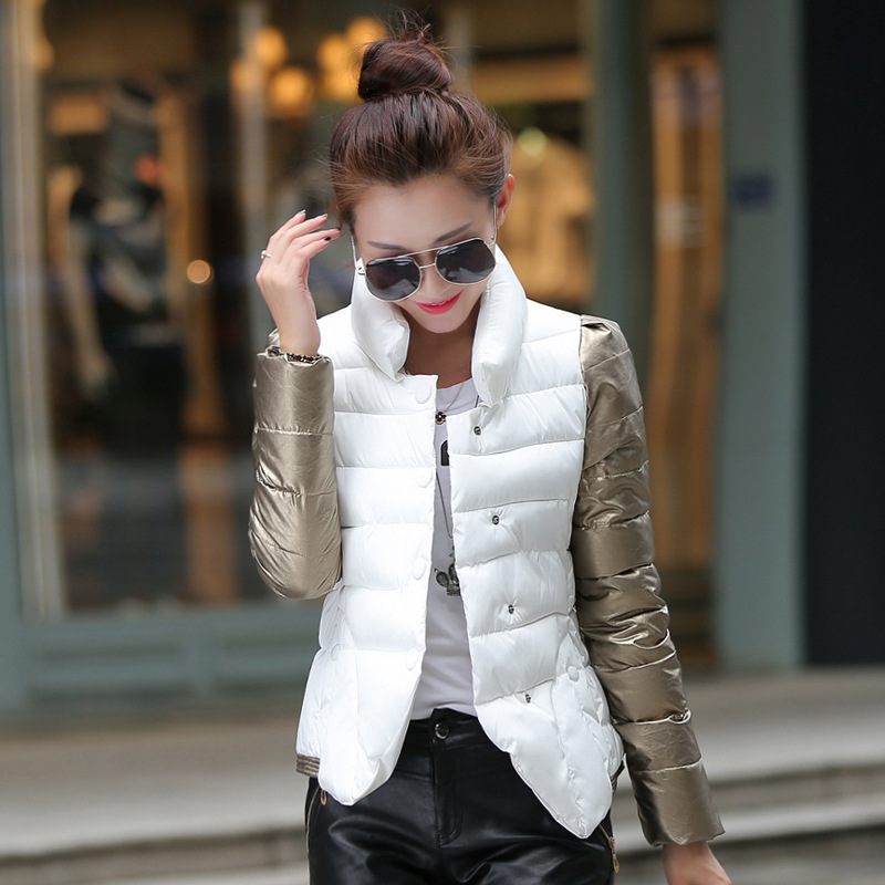 2017 Winter Fashion  cotton-padded clothes womens big yards short feather women quilted jacket small coat YRF1611004Одежда и ак�е��уары<br><br><br>Aliexpress